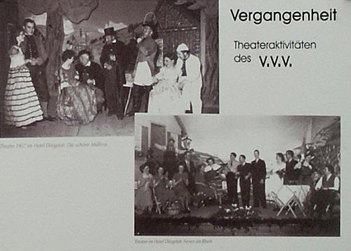 Theateraktivitäten des VVV im Jahre 1957