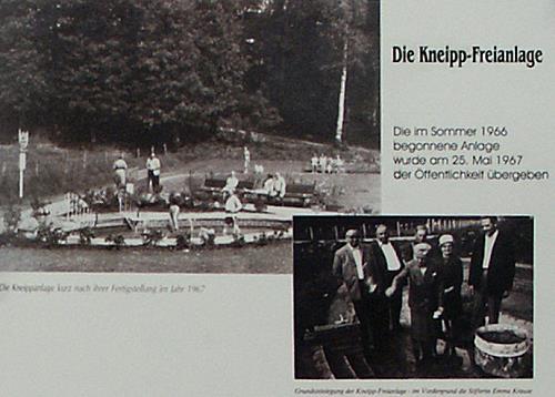 Eröffnung der Kneippanlage im Jahre 1967