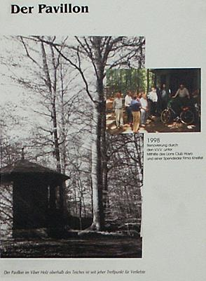 Fertigstellung des Pavillons im Vilser Holz 1998